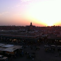 Photo taken at Place Jemaa el-Fna by Rosalie A. on 7/15/2013