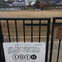 Photo taken at 野川グラウンド by nyamn on 12/10/2015