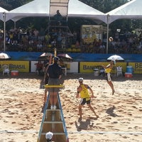 Photo taken at FIVB Beach Volleyball World Cup Final by Rodrigo O. on 6/1/2013
