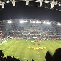 Photo taken at Daejeon Worldcup Stadium by jinjoo L. on 3/27/2015