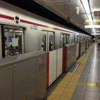 Photo taken at Yotsuya-sanchome Station (M11) by Mikan M. on 6/23/2013