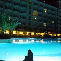 Photo taken at Crystal Admiral Resort Suites & Spa by Ezgi Y. on 7/29/2013