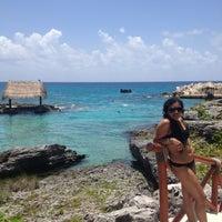 Photo taken at Playa Xcaret by Patty G. on 7/23/2013