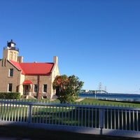 Photo taken at Old Mackinac Point Lighthouse by Annette & Frank F. on 9/6/2014