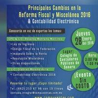 Photo taken at Colegio de Contadores Públicos de Sonora AC by Rosy M. on 1/28/2016