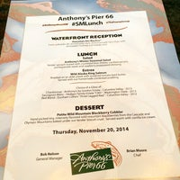 Photo taken at Anthony's Pier 66 & Bell Street Diner by Inna B. on 11/20/2014