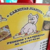 Photo taken at Carnitas Juanito by Samantha R. on 6/22/2013