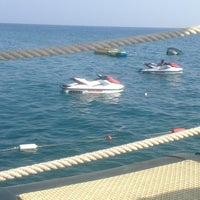 Photo taken at Utopia World Beach by Evgeny on 7/9/2013