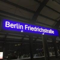 Photo taken at Bahnhof Berlin Friedrichstraße by Thorsten D. on 3/12/2016
