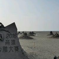 Photo taken at 旗津海水浴場 Cijin Beach by Ko H. on 8/29/2016