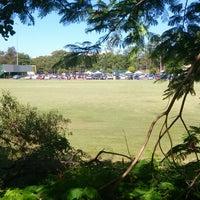 Photo taken at QUT Kelvin Grove Oval by Alex . on 3/7/2014