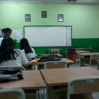 Photo taken at SMAN 58 Jakarta by Destry A. on 10/27/2013