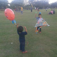 Photo taken at Taman Layang-Layang (Kite Flying) Kepong by Nor Afizah on 6/1/2013