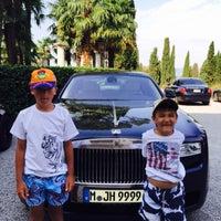 Photo taken at Villa Cortine Palace Hotel by Alex V. on 7/29/2015