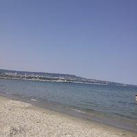 Photo taken at Плаж Аспарухово (Asparuhovo beach) by Galina S. on 6/19/2013