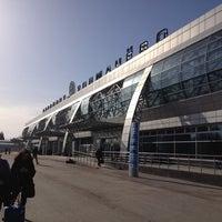 Photo taken at Tolmachevo International Airport (OVB) by Tanya S. on 4/9/2013