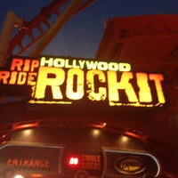 Photo taken at Hollywood Rip Ride Rockit by rpecci P. on 5/17/2013