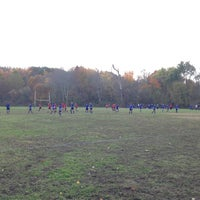 Photo taken at Cherokee Park Frisbee/Rugby Field by Jamie A. on 11/2/2013