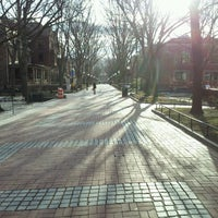Photo taken at Locust Walk by Michael W. on 3/4/2013