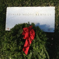 Photo taken at Edward Ted Kennedy Grave by AlohaKarina 🌺🌈🏝 on 12/15/2012