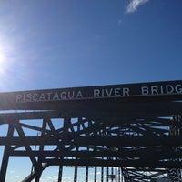 Photo taken at Piscataqua River Bridge by AlohaKarina 🌺🌈🏝 on 11/24/2012