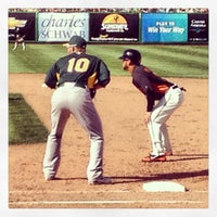 Photo taken at Scottsdale Stadium by Brian P. on 3/23/2013