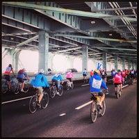Photo taken at Five Boro Bike Tour by Brian P. on 5/5/2013