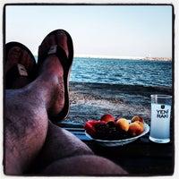 Photo taken at marina plajı by Ibrahim Sencer Ö. on 6/17/2014