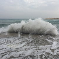 Photo taken at marina plajı by Ibrahim Sencer Ö. on 12/4/2014