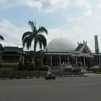Photo taken at Masjid Agung Al-Falah by Sean R. on 6/5/2014