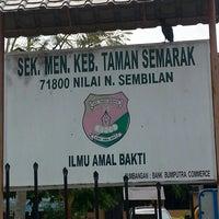 Photo taken at SMK Taman Semarak by Myza A. on 1/21/2014