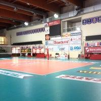 Photo taken at Palasport Fontescodella by Fabio L. on 3/28/2014
