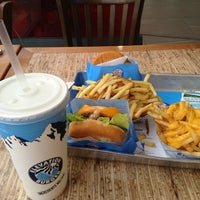 Photo taken at Elevation Burger by fatma b. on 5/19/2013