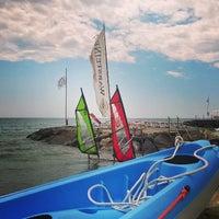 Photo taken at Bagni Ponterosso - Windsurf Center by Erica M. on 7/26/2014