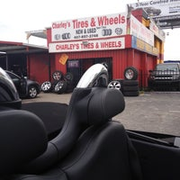 Photo taken at Charley's Tires & Wheels by Brandy B. on 4/12/2013