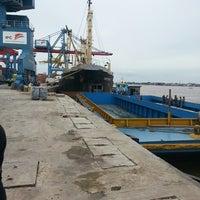 Photo taken at Pelabuhan Boom Baru Palembang by Dien j. on 4/22/2013