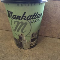 Photo taken at Manhattan Bagel by Andy E. on 12/30/2014