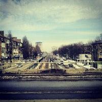 Photo taken at Міст Вацлава Гавела by Irina S. on 4/9/2013