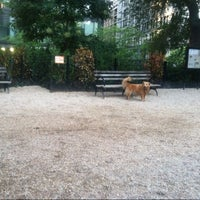 Photo taken at Union Square Dog Run by krg. on 7/30/2013