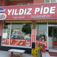 Photo taken at Yıldız Pide & Kebap & Cağ Döner Salonu by Hayati S. on 5/3/2013
