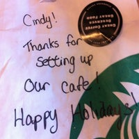 Photo taken at Starbucks by Cindy G. on 12/19/2012
