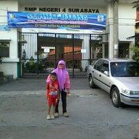 Photo taken at SMP Negeri 4 Surabaya by Intan P. on 5/5/2013