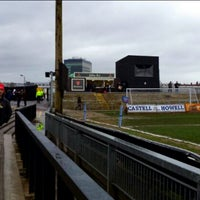 Photo taken at Rodney Parade by Llewelyn S. on 2/23/2014