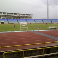 Photo taken at Hasely Crawford Stadium by Krix on 12/1/2012