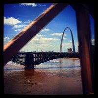 Photo taken at Stan Musial Veterans Memorial Bridge by Shannon B. on 7/1/2014