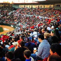 Photo taken at Estadio Gasmart by Toros de Tijuana on 4/28/2013
