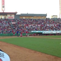 Photo taken at Estadio Gasmart by Toros de Tijuana on 7/14/2013