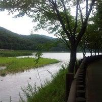 Photo taken at 율동공원 놀이터 by Kim S. on 8/15/2013