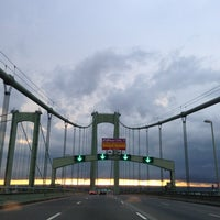 Photo taken at Delaware Memorial Bridge by Erlie P. on 7/28/2013
