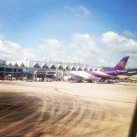 Photo taken at Phuket International Airport (HKT) by Issaree P. on 6/29/2013